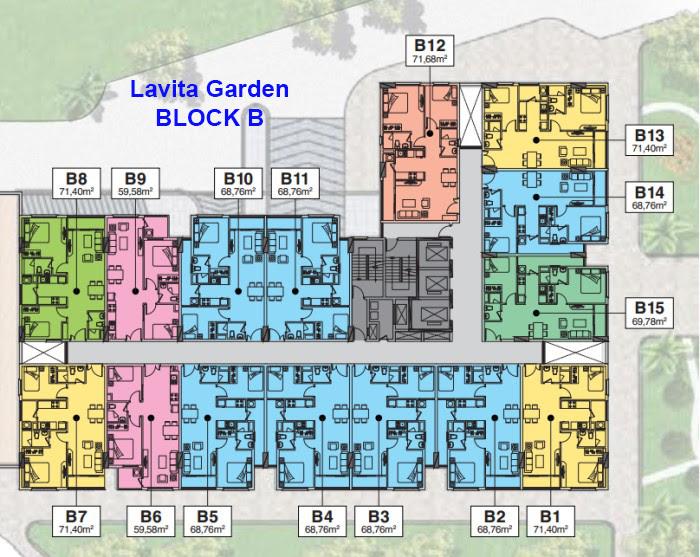 Mặt bằng căn hộ lavita garden Block B