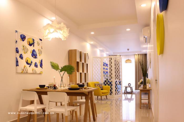 Không gian phòng khách căn hộ Vũng Tàu Melody