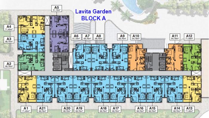 Mặt bằng căn hộ lavita garden Block A