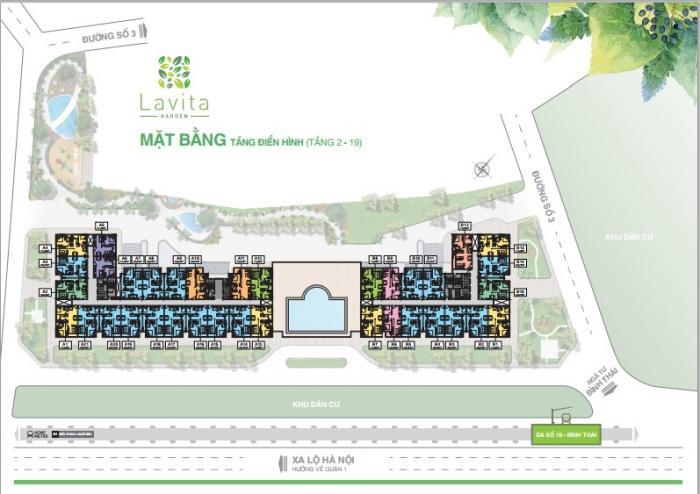 Mặt bằng tổng thể dự án lavita garden thủ đức