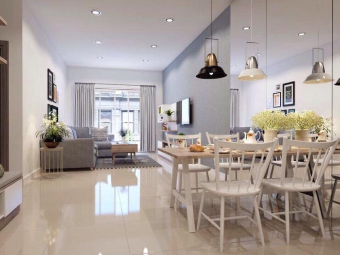 Phòng khách căn hộ Moonlight residences đặng văn bi