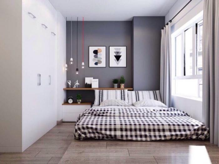 Không gian phòng ngủ căn hộ Moonlight residences đặng văn bi
