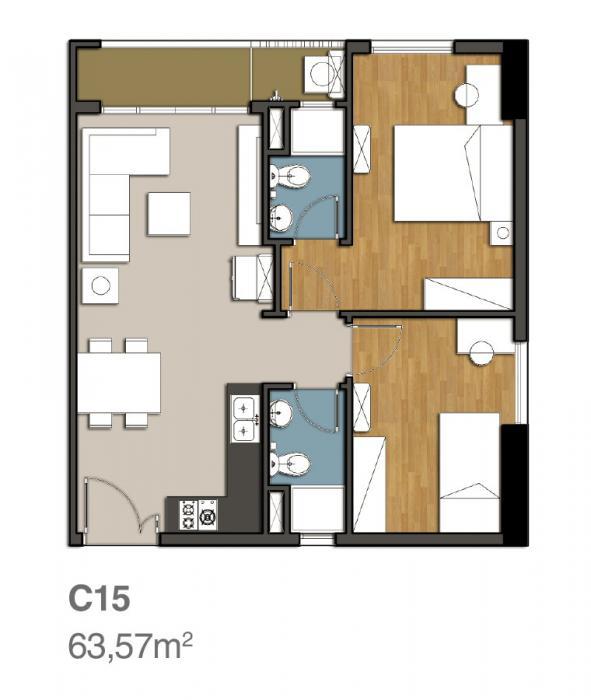Mẫu thiết kế căn hộ 9 view quận 9 c15