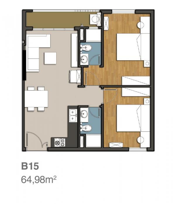 Mẫu căn hộ 9 view quận 9 -B15
