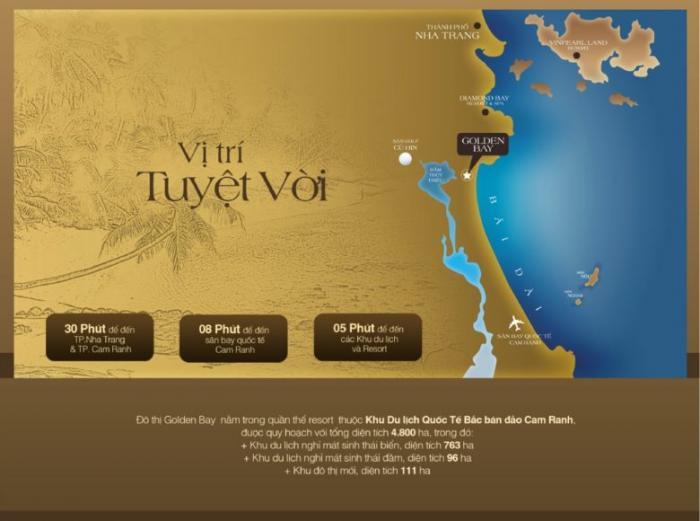 Vị trí đắc địa Golden bay Cam Ranh