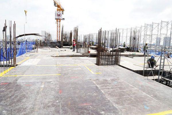 Thi công sàn tầng 10 Block Northern dự án Saigon Mia