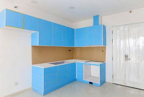 Thi công tủ bếp tầng 5-17 taijBlock Centerl căn hộ Saigon Mia