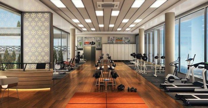 Phòng Gym bên trong dự án căn hộ Q7 Boulevard