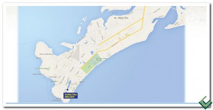 Bản đồ Biển vị trí Vũng Tàu Meldoy
