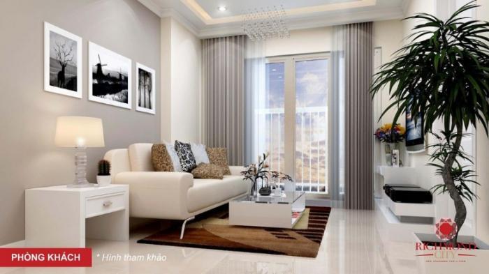 Không gian phòng khách tại căn hộ Richmond city