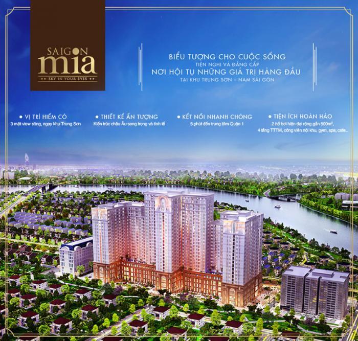 Tổng thể căn hộ Saigon mia