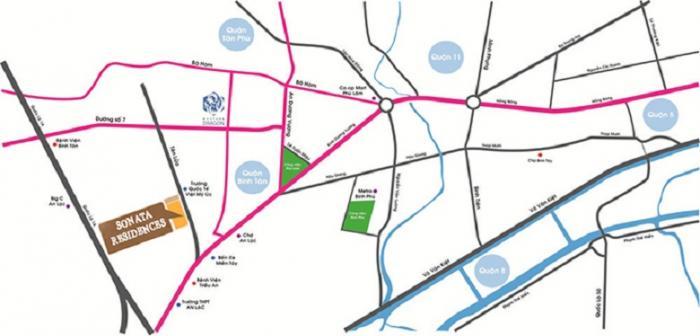 Vị trí căn hộ Sonata Residences Quận Bình Tân