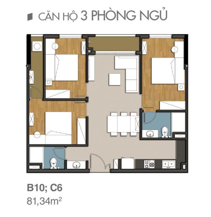 Căn hộ 9 view quận 9 ba phòng ngủ