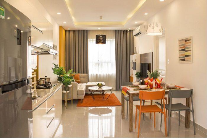 Phòng khách căn hộ 9 view quạn 9