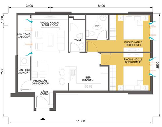 Tòa 2 căn hộ Masteri Thảo Điền Quận 2