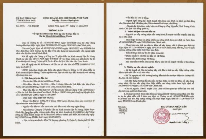 Pháp lý dự án Golden bay Cam Ranh